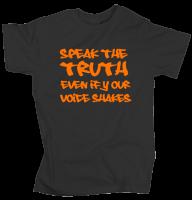 Speak the Truth - Charcoal