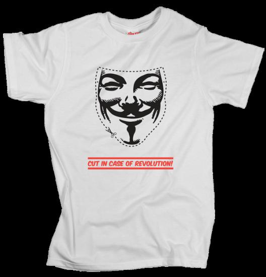 V – Cut in Case of Revolution - White