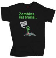 Zombies eat brains... - Black