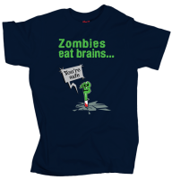Zombies eat brains... - Dark Blue