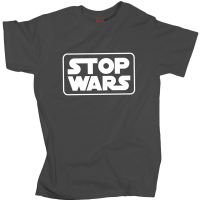 Stop Wars - Charcoal